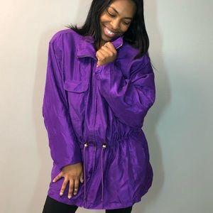 Purple jacket!